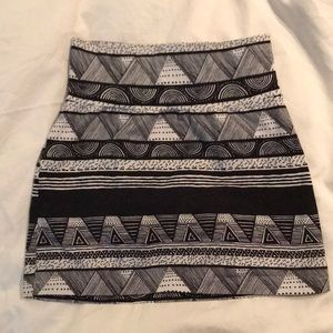 American Apparel Tribal mini skirt